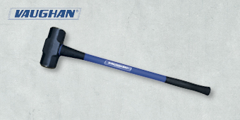 VAUGHAN 8LB SLEDGE HAMMER WITH FIBREGLASS HANDLE (910MM LONG) VSL8XF