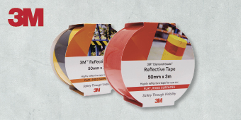 3M REFLECTIVE HAZARD TAPE 50MM X 3M 4291Reflective hazard tapes:Yellow/black (shown) – 4571038Red/white – 4571037Yellow/red – 4571039Diamond grade reflective tapes:White – 4571033Yellow – 4571034Red (shown) – 4571035Fluro green – 4571036