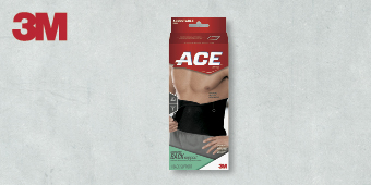 3M ACE SUPPORT ADJUSTABLE BRACES ONE SIZE BACK SUPPORT