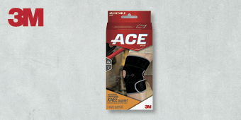 3M ACE SUPPORT ADJUSTABLE BRACES ONE SIZE KNEE SUPPORT