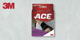 3M ACE SUPPORT ADJUSTABLE BRACES ONE SIZE WRIST SUPPORT