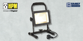 HPM 20W LED IP44 PORTABLE WORKLIGHT BLACK