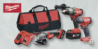 "MILWAUKEE M18 5.0AH FUEL ""3C POWER PK"" 3PCE KIT M18FPP3C–502B"