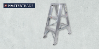 MASTERTRADE 3 STEP ALUMINIUM DOUBLE SIDED LADDER AA32–202