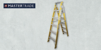 MASTERTRADE 6 STEP FIBREGLASS DUAL PURPOSE INDUSTRIAL LADDER FA61–205C