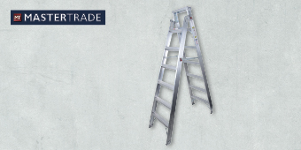 MASTERTRADE 7 STEP ALUMINIUM DUAL PURPOSE LADDER AA63–206