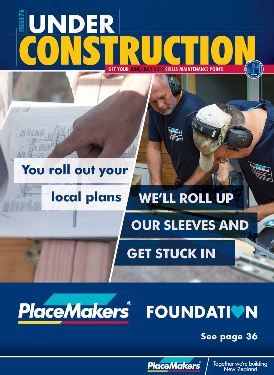 UNDER CONSTRUCTION JUNE/JULY 2019